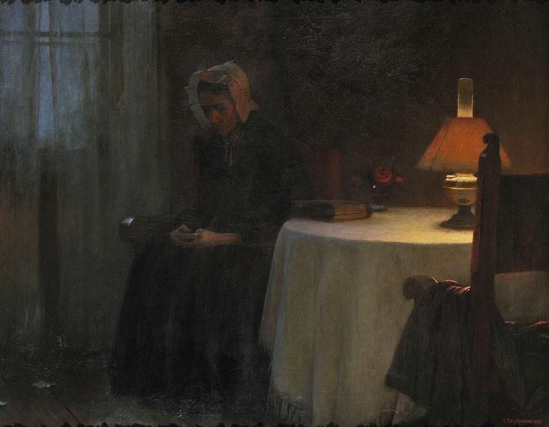 Jakub-Schikaneder-Evening-also-known-as-Old-Woman-in-an-Interior-