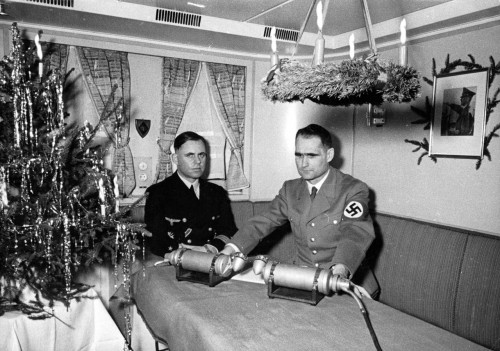Rudolf Hess at his Christmas address, 1939